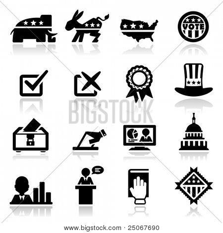 Conjunto de ícones de eleição