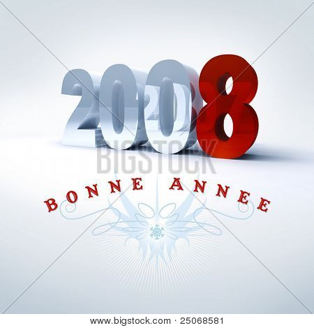 Happy New Year in french, 2008