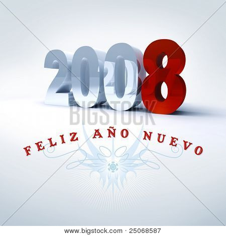 Happy New Year in spanish, 2008
