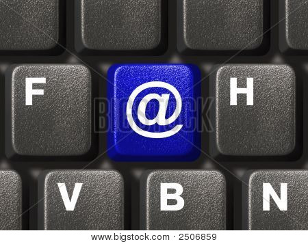 Pc Keyboard With E-Mail Key