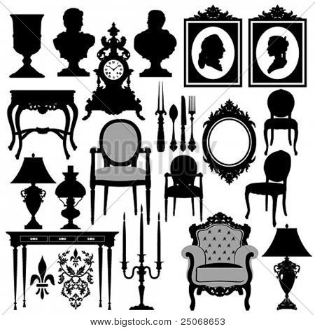 Vector baroque objects #2