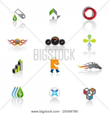 Set of original logos. Vector 2