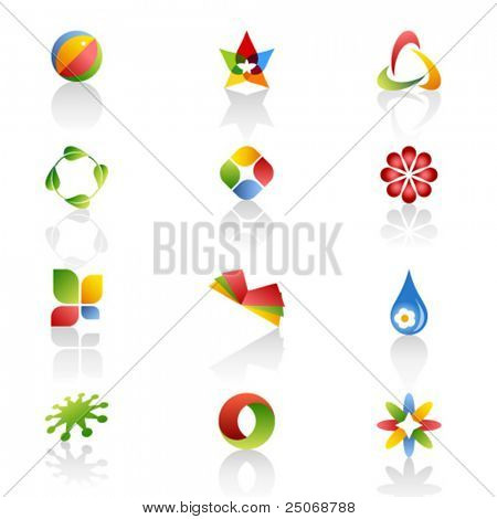 Set of original logos. Vector 3