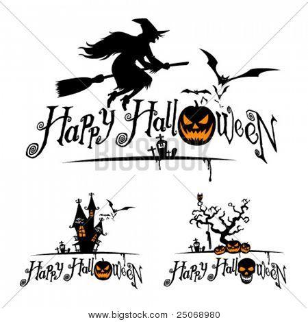 Vector Halloween desenhos.
