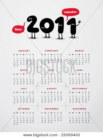 Calendario divertido año 2011