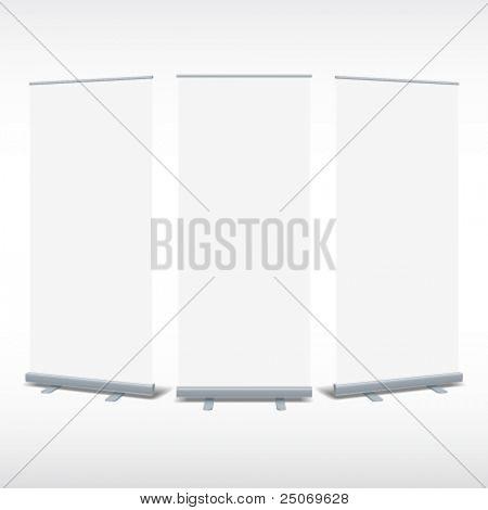 En blanco acumulados Vector de plantilla de pantalla banner para diseñadores