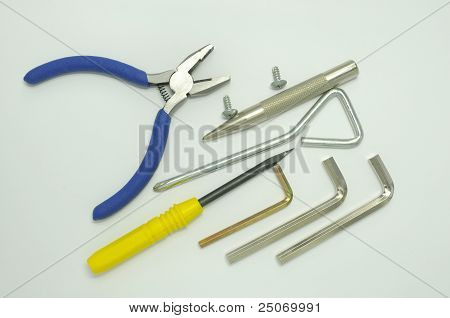 Screwdriver and Pliers