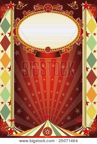 Circo Rhombus Vintage Poster