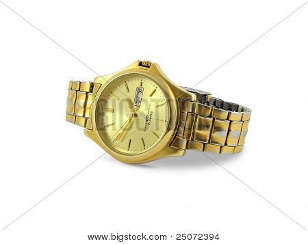 Watch isolated on white background, clipping path included.