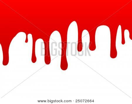 A stream of blood on the vertical surface.