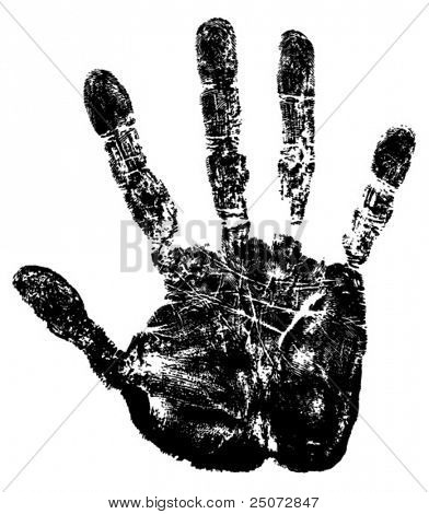 Vector image of hand print.