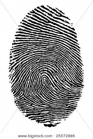 Vektor-Format von Finger print.