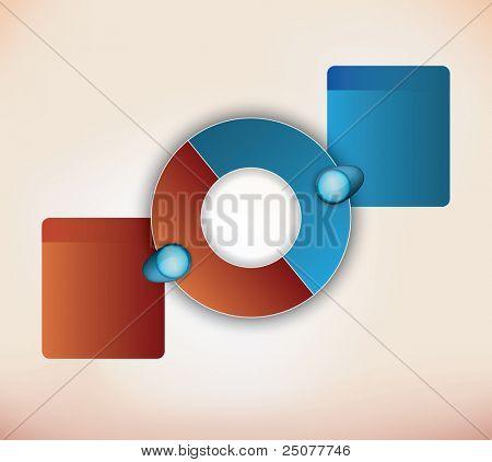 two parts presentation diagram with place for description for each item