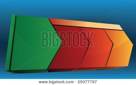 elementos de flecha del diagrama de presentación