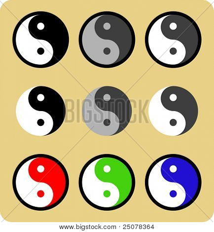 Chinese philosophical symbol of Ying Yang.