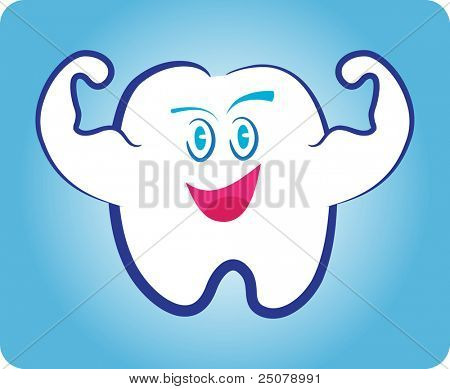 A healthy and strong white tooth.