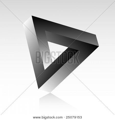Dreieck optische Täuschung.