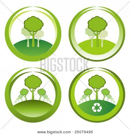 Green reforestation conceptual designs.