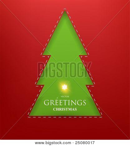 Papel rasgado em forma de floco de neve de Natal. Ilustração vetorial.
