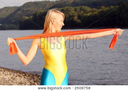 Fitness Exercises With Elastic Band