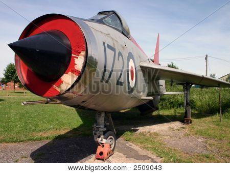 Retired Lightning F-1A Fighter Jet