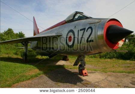 Retired Lightning F-1A Fighter Jet