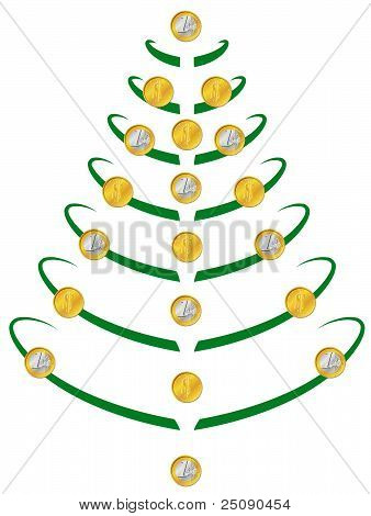 Christmas Tree With Coins