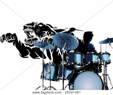 black tiger drummer