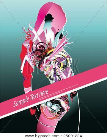 dance girl poster