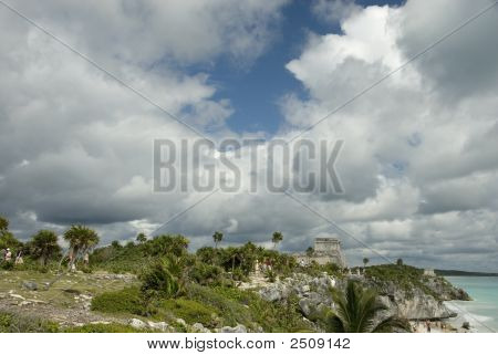 Tulum Ruins On Cliff Top