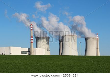 Nuclear Power Plant In Green Field