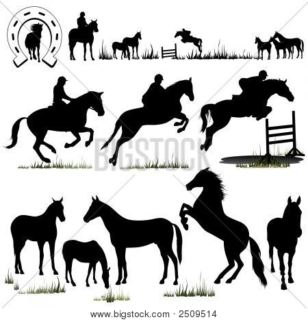 Vector Horse Silhouettes (Replacing: 1156407)
