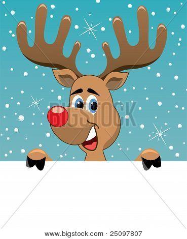Deer Holding Blank Paper