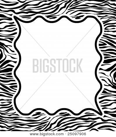 Frame With Abstract Zebra Skin Texture