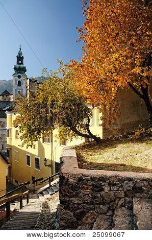 Autumn in Banska Stiavnica, Slovakia UNESCO