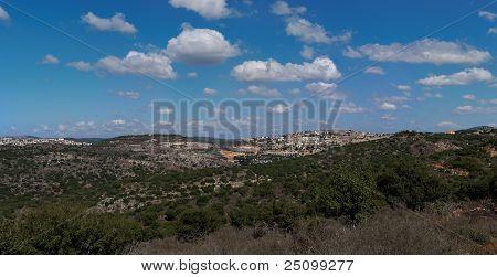 Mediterranean landscape in Upper Galilee