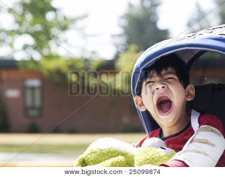 Five Year Old Disabled Boy Going To School