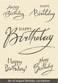 picture of happy birthday card  - Set of original Birthday inscriptions - JPG
