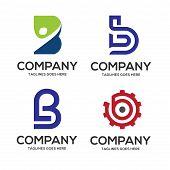 B Letter Logo Design Vector Illustration Logo Set, B Letter Logo Vector, Letter B Logo Vector, Creat poster