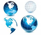 stock photo of world-globe  - American side of the world - JPG