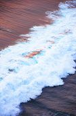 Color Wave Of The Ocean During Sunset, Open Water Landscape. Blue Water Background. Nature, Ocean, S poster