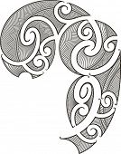 stock photo of maori  - Maori style tattoo design fit for a man - JPG