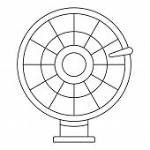 Color Lucky Wheel Icon. Outline Color Lucky Wheel Vector Icon For Web Design Isolated On White Backg poster