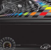 image of gage  - Car racing design in black - JPG