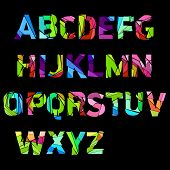 broken color alphabet