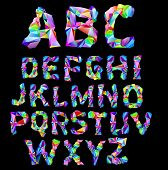 stock photo of alphabet letters  - psychedelic alphabet - JPG