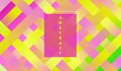 Geometric Background With Halftone Rectangles. Trendy Colorful Gradient. Bright Abstract Template Fo poster
