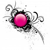 image of budge  - pink button - JPG