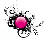 picture of budge  - pink button - JPG