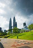 stock photo of petronas twin towers  - Asian architecture - JPG